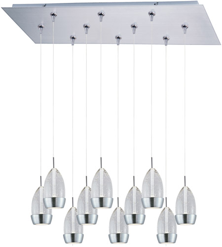 ET2 Luxe 10 Light Linear Pendant in Satin Nickel E93952-91SN photo