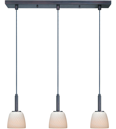 ET2 Carte 3 Light Linear Pendant in Bronze E94013-13 photo