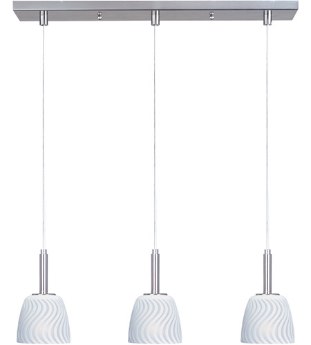 ET2 Carte 3 Light Linear Pendant in Satin Nickel E94113-41 photo