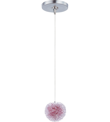 ET2 E94420-93AL Minx 1 Light 5 inch Brushed Aluminum Mini Pendant Ceiling Light in Red photo