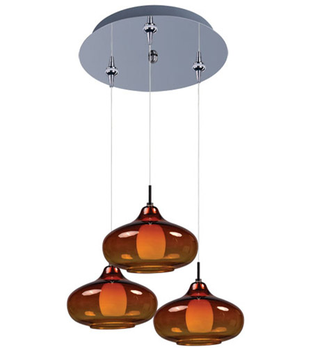 ET2 Minx 3 Light Multi-Light Pendant in Polished Chrome E94648-141PC photo