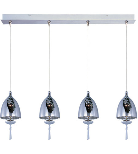 ET2 E94926-11SN Minx 4 Light 34 inch Satin Nickel Linear Pendant Ceiling Light photo