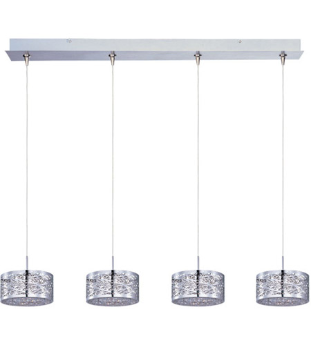 ET2 E94945-10PC Inca 4 Light 34 inch Polished Chrome Linear Pendant Ceiling Light photo