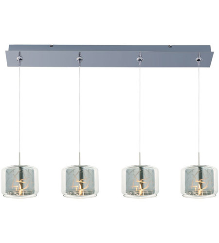 ET2 E94949-146PC Minx 4 Light 35 inch Polished Chrome Linear Pendant Ceiling Light in Clear/Mirror photo
