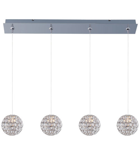 ET2 E94970-20PC Brilliant 4 Light 35 inch Polished Chrome Linear Pendant Ceiling Light photo