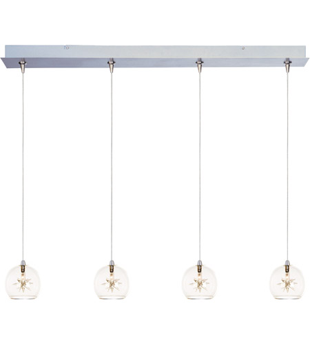 ET2 E94972-24 Starburst 4 Light 35 inch Linear Pendant Ceiling Light in Clear photo