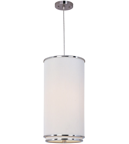 ET2 E95040-102SN Elements 1 Light 10 inch Satin Nickel Mini Pendant Ceiling Light in Amber Lava, White Pleat photo