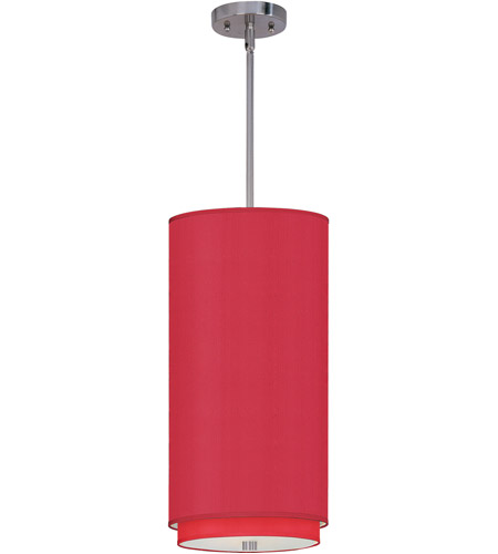 ET2 E95042-105SN Elements 1 Light 10 inch Satin Nickel Mini Pendant Ceiling Light in White Leopard, Crimson Silk photo