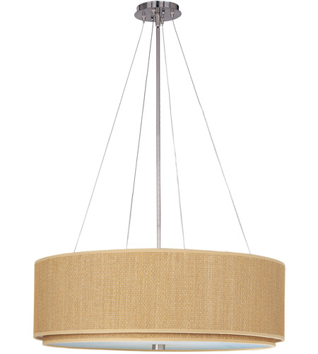 ET2 E95065-101SN Elements 3 Light 29 inch Satin Nickel Pendant Ceiling Light in Grass Cloth photo