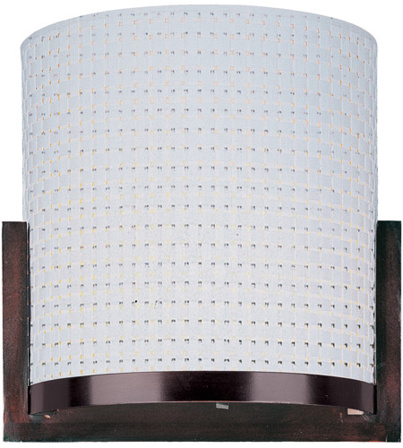 ET2 E95080-100OI Elements 1 Light 7 inch Oil Rubbed Bronze Wall Sconce Wall Light in White Weave photo