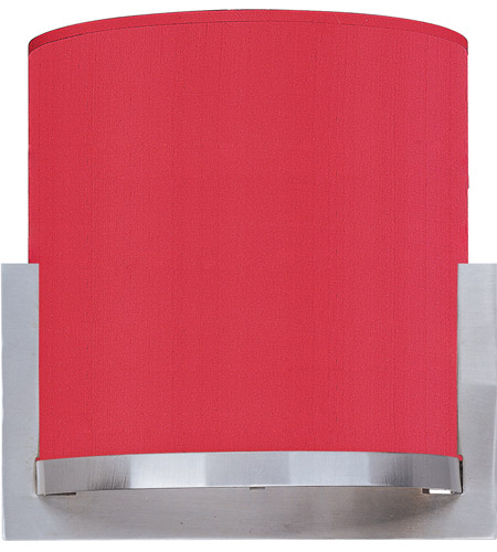 ET2 E95080-105SN Elements 1 Light 7 inch Satin Nickel ADA Wall Sconce Wall Light in White Leopard, Crimson Silk photo