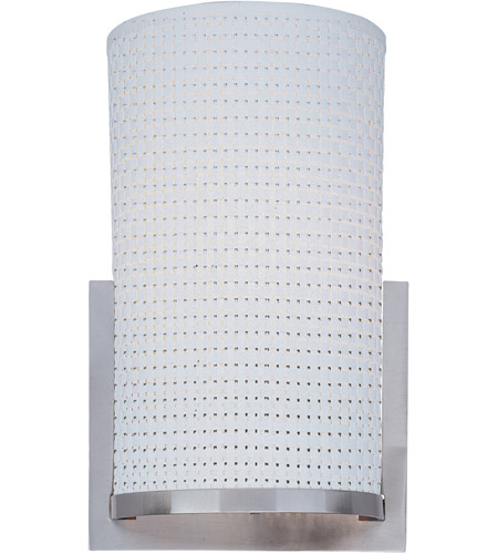 ET2 E95084-100SN Elements 1 Light 7 inch Satin Nickel Wall Sconce Wall Light in White Weave photo