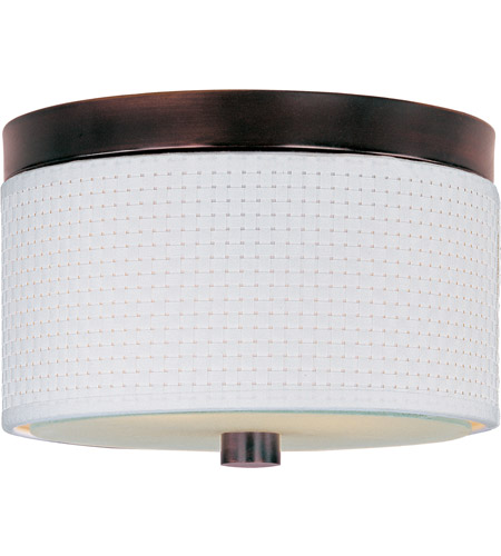 ET2 E95100-100OI Elements 2 Light 10 inch Oil Rubbed Bronze Flush Mount Ceiling Light in White Weave photo
