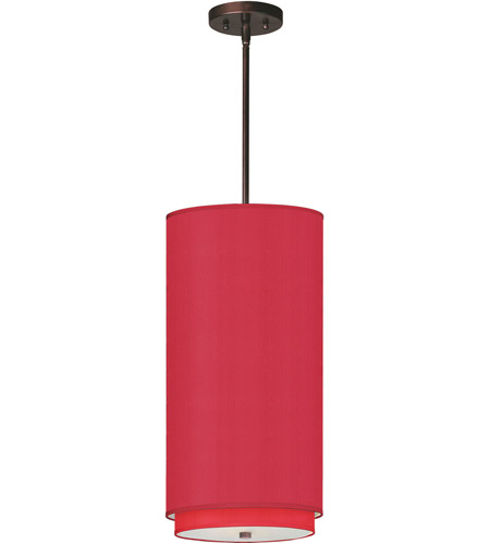 ET2 E95144-105OI Elements 1 Light 10 inch Oil Rubbed Bronze Mini Pendant Ceiling Light in White Leopard, Crimson Silk photo