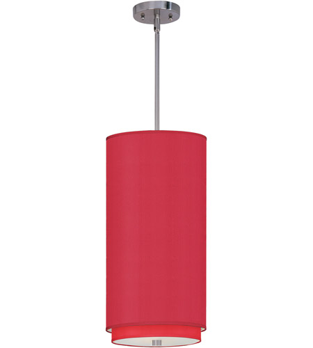 ET2 E95144-105SN Elements 1 Light 10 inch Satin Nickel Mini Pendant Ceiling Light in White Leopard, Crimson Silk photo