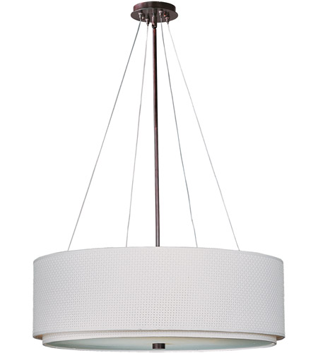 ET2 E95160-100OI Elements 4 Light 23 inch Oil Rubbed Bronze Pendant Ceiling Light in White Weave photo