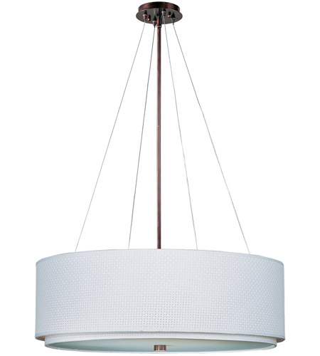 ET2 E95165-100OI Elements 4 Light 29 inch Oil Rubbed Bronze Pendant Ceiling Light in White Weave photo