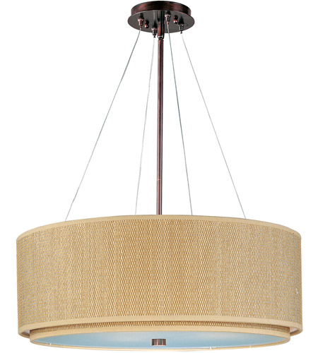 ET2 E95165-101OI Elements 4 Light 29 inch Oil Rubbed Bronze Pendant Ceiling Light in Grass Cloth photo