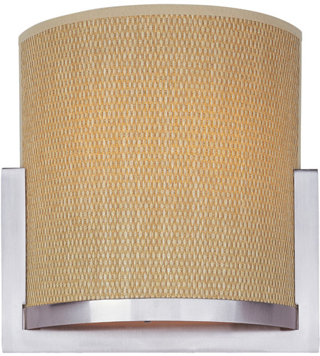 ET2 E95188-101SN Elements 2 Light 11 inch Satin Nickel Wall Sconce Wall Light in Grass Cloth photo