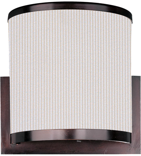 ET2 E95188-102OI Elements 2 Light 11 inch Oil Rubbed Bronze Wall Sconce Wall Light in Amber Lava, White Pleat photo