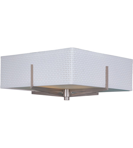 ET2 E95340-100SN Elements 2 Light 16 inch Satin Nickel Flush Mount Ceiling Light in White Weave photo