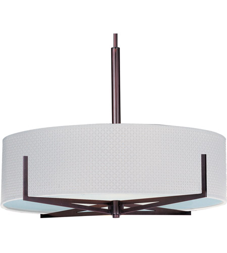 ET2 E95408-100OI Elements 4 Light 26 inch Oil Rubbed Bronze Pendant Ceiling Light in White Weave photo