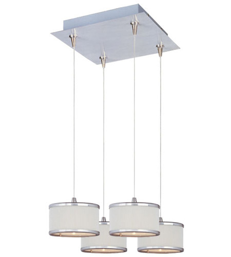 ET2 Elements 4 Light Pendant in Satin Nickel E95494-102SN photo