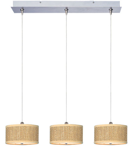 ET2 Elements 3 Light Linear Pendant in Satin Nickel E95496-101SN photo