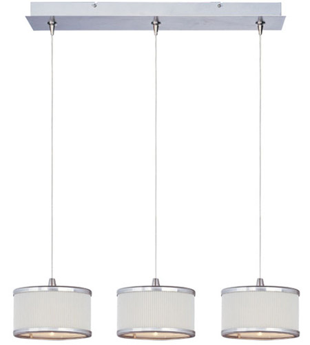 ET2 Elements 3 Light Linear Pendant in Satin Nickel E95496-102SN photo