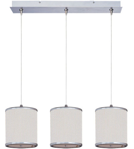 ET2 Elements 3 Light Linear Pendant in Satin Nickel E95497-102SN photo