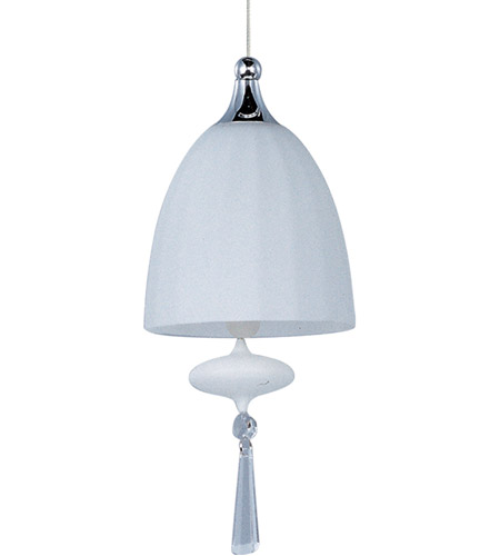 ET2 EP96018-11SN Minx 1 Light 5 inch Satin Nickel RapidJack Pendant Ceiling Light in Matte White photo