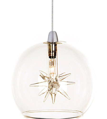 ET2 EP96080-24 Starburst 1 Light 4 inch RapidJack Pendant Ceiling Light in Clear photo