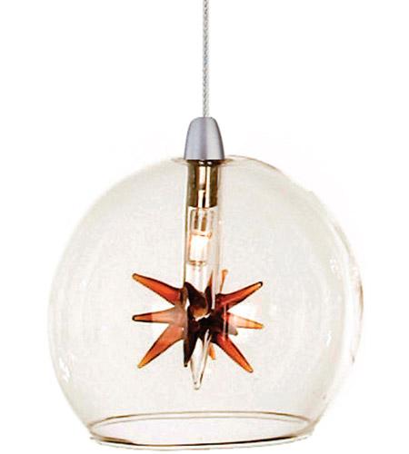 EP96080-24 ET2 Lighting Starburst 1-Light RapidJack Pendant in Satin Nickel