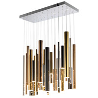 Flute LED 36 inch Multiple Linear Pendant Ceiling Light