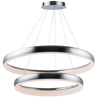 ET2 E10036-SN Innertube LED 32 inch Satin Nickel Multi-Light Pendant Ceiling Light
