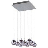 ET2 Starburst 9 Light Pendant in Satin Nickel and Polished Chrome E20106-81