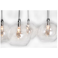 ET2 E20106-24 Starburst 9 Light 16 inch Satin Nickel and Polished Chrome Pendant Ceiling Light in Clear alternative photo thumbnail