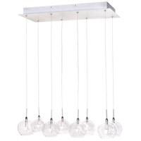 Starburst 8 Light 10 inch Satin Nickel and Polished Chrome Pendant Ceiling Light in Clear