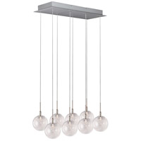 Starburst 8 Light 24 inch Satin Nickel and Polished Chrome Pendant Ceiling Light in Threaded