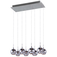 ET2 Starburst 8 Light Pendant in Satin Nickel and Polished Chrome E20107-81