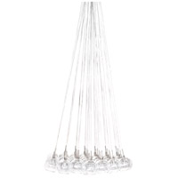 ET2 E20112-24 Starburst 37 Light 33 inch Satin Nickel and Polished Chrome Pendant Ceiling Light in Clear
