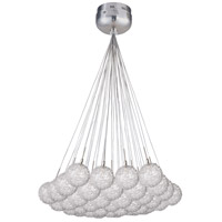 ET2 E20112-78 Starburst 37 Light 33 inch Satin Nickel and Polished Chrome Pendant Ceiling Light in Mesh