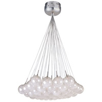 Starburst 37 Light 33 inch Satin Nickel and Polished Chrome Pendant Ceiling Light in Threaded