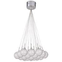Starburst 19 Light 20 inch Satin Nickel and Polished Chrome Pendant Ceiling Light in Mesh