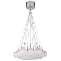 Starburst 19 Light 20 inch Satin Nickel and Polished Chrome Pendant Ceiling Light in Threaded