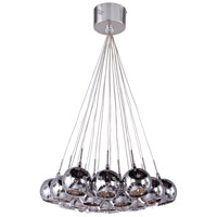 ET2 Starburst 19 Light Pendant in Satin Nickel and Polished Chrome E20113-81