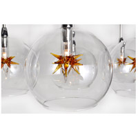 ET2 Starburst 19 Light Pendant in Satin Nickel and Polished Chrome E20113-25 alternative photo thumbnail
