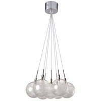 Starburst 7 Light 12 inch Satin Nickel and Polished Chrome Pendant Ceiling Light in Threaded