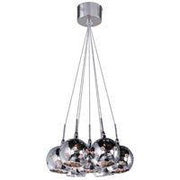 ET2 Starburst 7 Light Pendant in Satin Nickel and Polished Chrome E20114-81