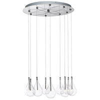 ET2 E20115-18 Larmes 9 Light 22 inch Polished Chrome Pendant Ceiling Light